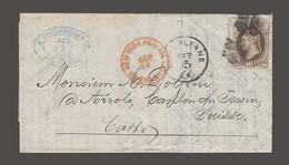 USA. 1872 (5 Sept). N Orleans - Switzerland (26-27 Oct). Fkd EL Full Text Fkd 10c Tied Cork. Via NY Paid All. Via Englan - Sin Clasificación