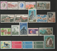 MONACO ANNEE 1971 N°847 à 866 NEUFS** NMH ANNEE COMPLETE COTE 50,00€ - Nuovi
