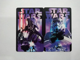 China Transport Cards, Disney, Movie, Star Wars, For Bus, Metro, Etc.., Shanghai City, (2pcs) - Unclassified