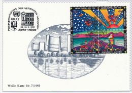 Vereinte Nationen UNO Wien 1992 FDC Environment Summit Weisse Karte Cachet Graz °PK0236 - Sonstige