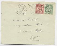 N°111+116 LETTRE MECANIQUE RF PARIS DEPART 1 JAN 1902 OBLITERATION DU JOUR DE L'AN - Sellados Mecánicos (Publicitario)