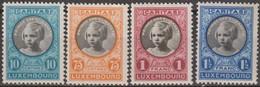 Lussemburgo Luxemburg 1927 MiN°192 Lot 4v MNH/** Vedere Scansione - 1921-27 Charlotte Frontansicht
