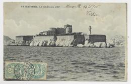 BLANC 5C PAIRE AU RECTO MARSEILLE CACHET DOUBLE CERCLE BATEAU A VAPEUR MARSEILLE ALGER 15 AOUT 06 POUR ALGERIE - Maritime Post