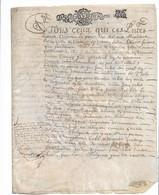 Gen ROUEN 1687  Dix Sols De Roole Augm 6S4D  Acte Parchemin ,  3 Pages, VERNON, Notre Dame De L'Isle.... - Gebührenstempel, Impoststempel
