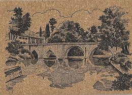 Carte Postale En Liège - 47 Lot Et Garonne - LAVARDAC - Le Pont - Arches Du XIII Eme Siècle - Lavardac