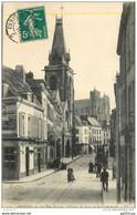 """Cachet Ambulant """"Paris A Valenciennes 1910"""" Semeuse Pour Amiens - Railway Post"""