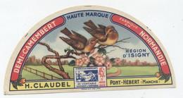 Etiquette Camembert, Pont Hebert - Cheese