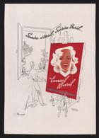 Pub Papier 1946 Beaute Dentifrice Email Baril Dessin Femme Francis Gilletta Atelier Peintre Artiste - Pubblicitari