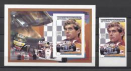 Malagasy Cars Automobiles Autos A.Senna Formel I 1996 DELUXE + 1v IMP. MNH - Automovilismo