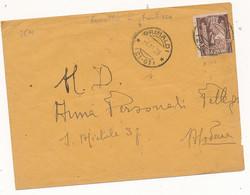 1923 GRIMALDI  FRAZIONARIO SU 0,50 MARCIA SU ROMA - Marcofilía