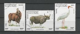 Cambodja 1995 Fauna  Y.T. 1260/1262 (0) - Cambodia