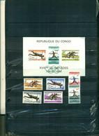 CONGO KINSHASA J.O. TOKYO 6 VAL+ BF  NEUFS A PARTIR DE 1.75  EUROS - República Del Congo (1960-64)