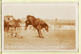 Ca006 ♥️ Carte Photo OLIVER Cowboy Shorty VERNON On NUNIKE Horse RODEO CALGARY 1926 ? STAMPEDE CANADA ALBERTA - Calgary