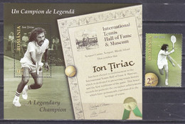 Romania 2015 Tennis Legends - Ion Țiriac (stamp 1v+SS/Block) MNH - Unused Stamps