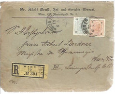 LETTER 1901   REGISTERED WIEN - Covers & Documents