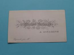 Michel ACHARD A BORDEAUX ( Carte Porcelaine / Porzellan / Porselein ) See SCANs ! - Visiting Cards