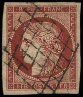 O FRANCE - Poste - 6A, Rouge Brun, Infime Fente En Marge, Très Bien Margé, Certificat Photo Calves - RRR - - 1849-1850 Ceres