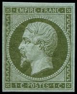 ** FRANCE - Poste - 11, TB: 1c. Olive - 1853-1860 Napoleon III