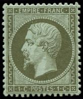 ** FRANCE - Poste - 19, Signé Calves, Très Bon Centrage: 1c. Vert-olive - Unclassified