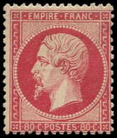 * FRANCE - Poste - 24, Signé Calves: 80c. Rose - 1862 Napoleon III