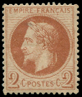 ** FRANCE - Poste - 26A, Type I, Signé Calves, TB: 2c. Rouge-brun - 1863-1870 Napoleon III With Laurels