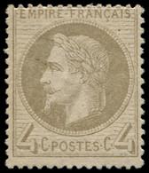 * FRANCE - Poste - 27B, Type II, Signé: 4c. Gris - 1863-1870 Napoleon III With Laurels