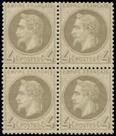 * FRANCE - Poste - 27B, Type II, Bloc De 4: 4c. Gris - Unclassified