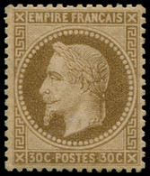 ** FRANCE - Poste - 30, Signé Calves, TB: 30c. Brun - 1863-1870 Napoleon III With Laurels