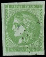 O FRANCE - Poste - 42B, Report 2, Signé Scheller: 5c. Vert-jaune - Unclassified