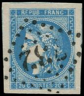 O FRANCE - Poste - 46B, Marges énormes, Signé Calves - 1870 Bordeaux Printing