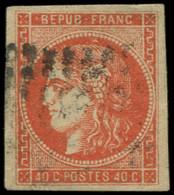 O FRANCE - Poste - 48c, Belles Marges, Signé Brun Et Miro: 40c. Rouge-orange - Unclassified