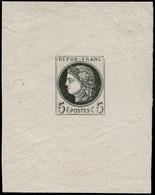 EPA FRANCE - Poste - 53, épreuve En Noir: 5c. Cérès - 1871-1875 Ceres