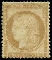 * FRANCE - Poste - 55, Signé Calves: 15c. Bistre - Unclassified