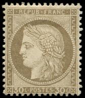 * FRANCE - Poste - 56, Signé Scheller: 30c. Brun - 1871-1875 Ceres
