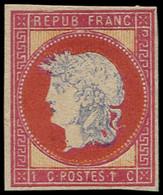 ESS FRANCE - Poste - Projet Gaiffe, Cadre Rose, Effigie Grise: 1c. - 1871-1875 Ceres