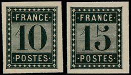 ** FRANCE - Poste - Essai De L'Imprimerie Nationale: 10c. + 15c (Spink) - 1871-1875 Ceres