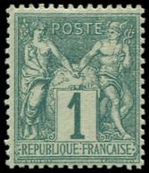** FRANCE - Poste - 61, Type I, Luxe: 1c. Vert - Unclassified