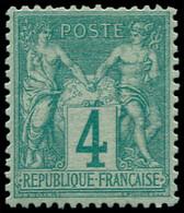 ** FRANCE - Poste - 63, Signé Baudot: 4c. Vert - 1876-1878 Sage (Type I)