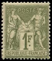 * FRANCE - Poste - 72, Signé Scheller: 1f. Bronze Type I - 1876-1878 Sage (Type I)