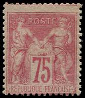 * FRANCE - Poste - 81, TB, Pleine Gomme, Décentré Comme Souvent, Certificat Photo Goebel: 75c. Rose Type II - 1876-1898 Sage (Type II)