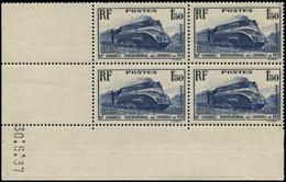 ** FRANCE - Poste - 340, Bloc De 4 Erreur De Date (Dimanche) 30/5/37: 1.50f. Locomotive (Spink) - Unclassified