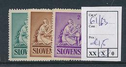 SLOVENSKO YVERT 61/63  LH - Nuovi