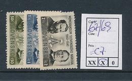 SLOVENSKO YVERT 67/69  LH - Nuovi