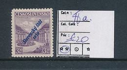 SLOVENSKO YVERT 18a BLUE OVERPRINT MNH - Nuovi