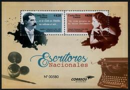 Costa Rica 2016 National Writers Stamp MS/Block MNH - Costa Rica