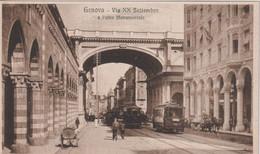 ITALY -  Genova - E Ponte Monumentale Via XX Settembre - VG Trams Etc - Genova (Genoa)
