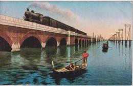 ITALY - Venezia - Ponte Della Ferrovia Sulla Laguna - Good Railway Train Etc - Venezia (Venice)