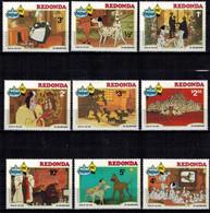 MWD-BK6-340-1 MINT PF/MNH ¤ REDONDA 1982 9w In Serie ¤ CHRISTMAS 101 DALMATIANS -- FRIENDS OF WALT DISNEY - Disney