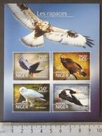 Niger 2014 Birds Of Prey M/sheet Mnh - Niger (1960-...)