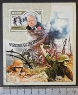 Niger 2014 World War 2 Ww2 Wwii Militaria Churchill M/sheet Mnh - Niger (1960-...)